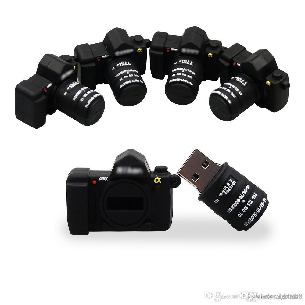 UK Wholesale Mini Cartoon USB 2.0 flashdrive New fashion Camera Pendrive USB flash 32GB 64GB Pen drive wedding photography gift U disk