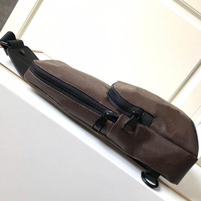 Classic Designs Men Avenue Sling Bags Canvas Textile Lining Men Avenue Shoulder Bags Fashion Purses Handbags Real Leather 5 colors with Box