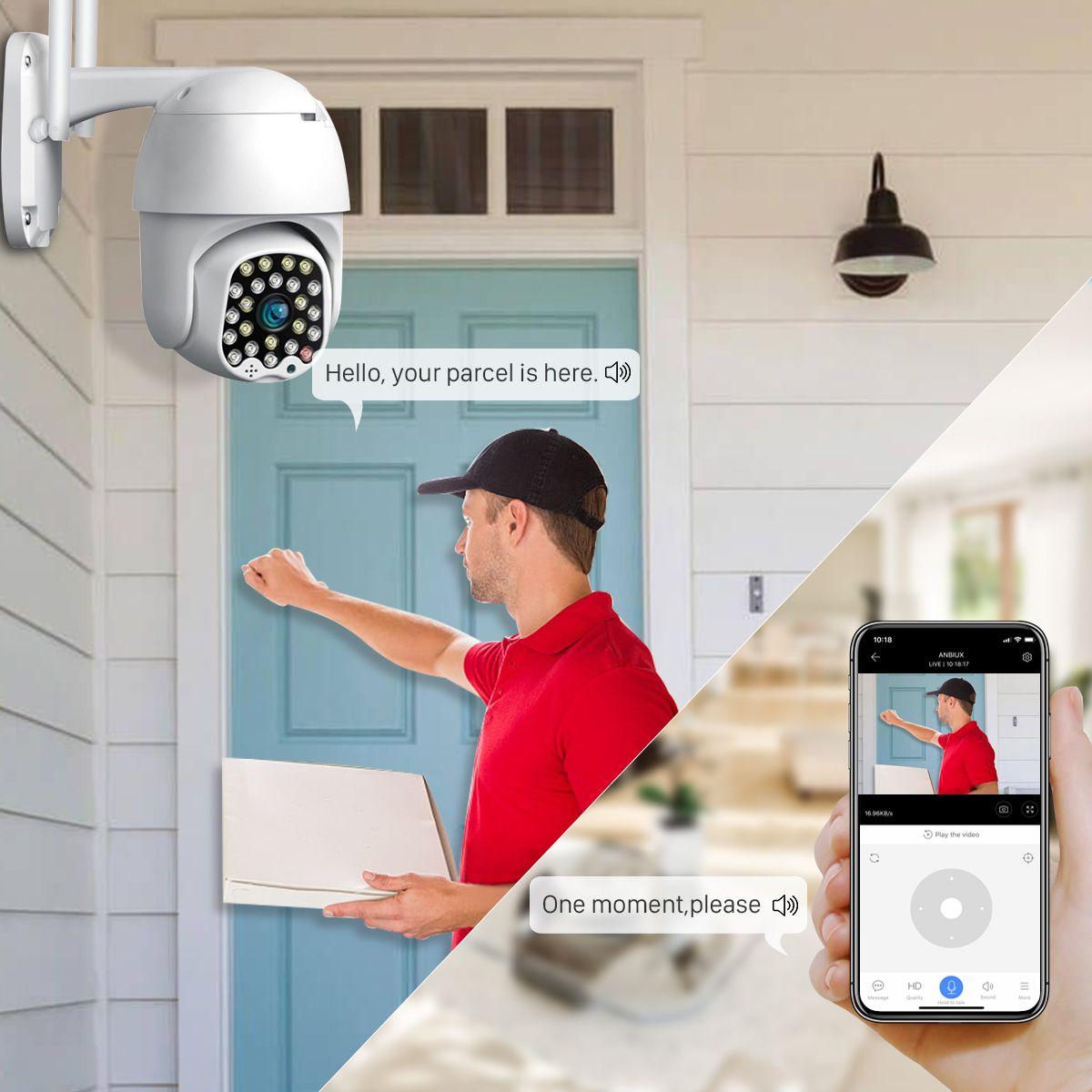 كاميرا 1080P سحابة واي فاي PTZ ماء 2MP كامل لون السيارات تتبع CCTV الأمن كاميرا IP تقريب رقمي 4X سرعة قبة الكاميرا IP