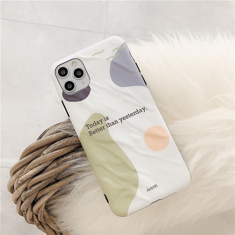 Tek Parça Lüks iPhone 7 8P XS XR 11PROMAX Moda kısa İngiliz Tasarımcı telefon kılıfı arka kapak için IMD telefonu kılıfı buzlu