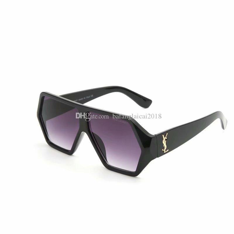 2019 Moda occhiali da sole per donna Decorazione Square uomo Donna Occhiali da sole Moda oversize Occhiali da sole Donna Colori chiari
