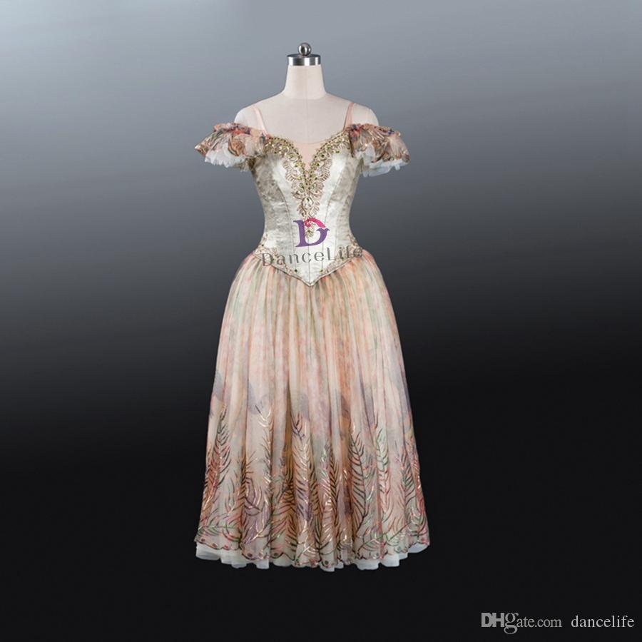 AP091 Спящая красота Романтическое балетное платье золото взрослых Giselle TUTU костюмы