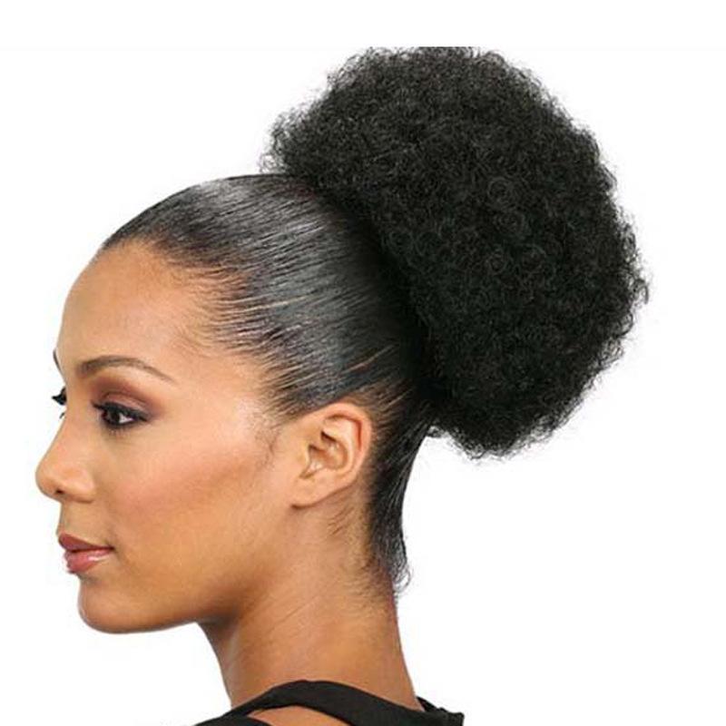 Afrika siyah peruk kabarık saç bract set patlayıcı kafa kabarık tırtıl saç paketi peruk