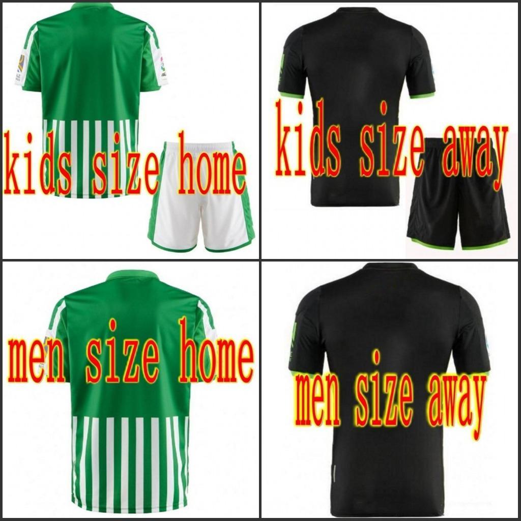 2019 Real Betis Balompié scherza il pullover di calcio maschile casa lontano squadra di calcio uniforme TELLO JOAQUIN FEKIR camisetas de fútbol Maglia 19 Camicie