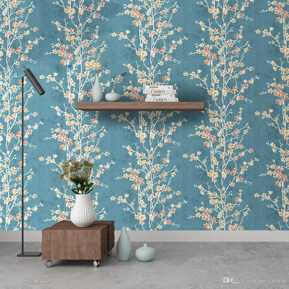 Romantic Cherry Blossom Fresh Small Floral Wallpaper Japanese
