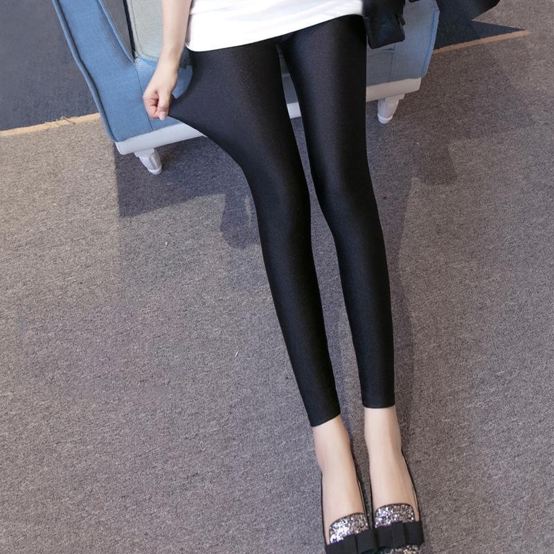 Нейлон блеска для женщин высокой эластичности тонкого тонкий большого размера свет без штанов ног крюка шелка Тонкого нейлона Глянцевых ног штаны