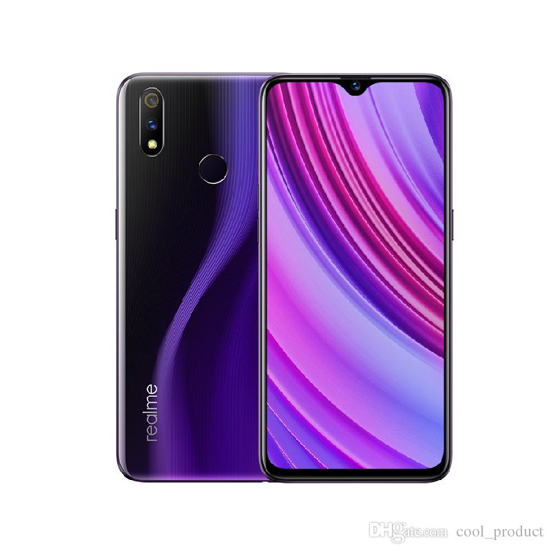 Original Oppo Realme X Lite 4G LTE Cell Phone 6GB RAM 64GB 128GB ROM Snapdragon 710 Octa Core Android 6.3 inch Full Screen 25MP Mobile Phone