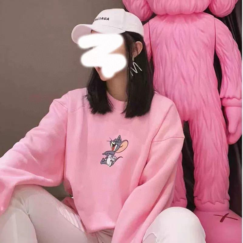 2020 высококачественный женский свитер весна и осень мода толстовка с длинными рукавами повседневная удобная повседневная одежда 34-1431