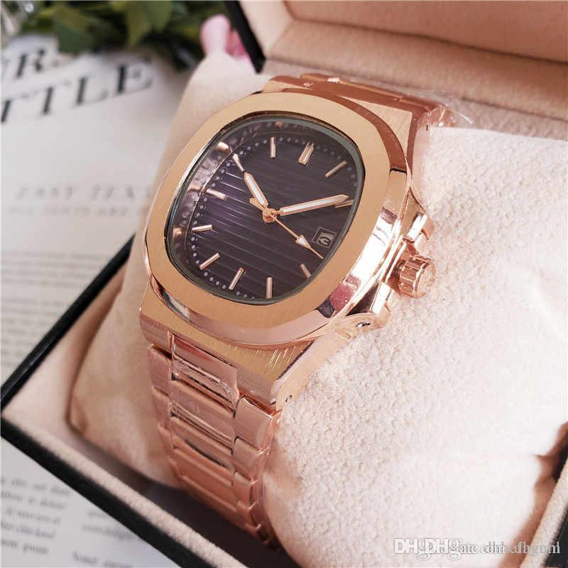 Designer Top Nautilus Rose Golduhr Luxus SS-Männer 2813 Automatik-Uhrwerk Uhren Silber Fall Art und Weise Mens mechanische Armbanduhren btime