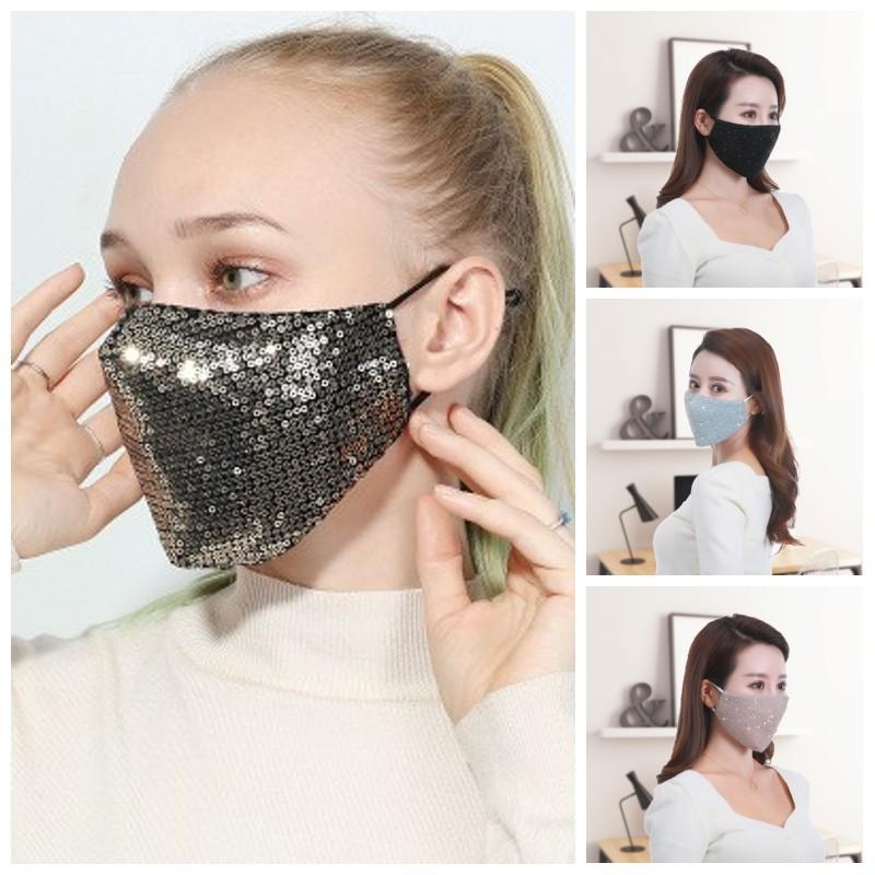 Los respiradores para adultos lentejuelas Earloop protector de la boca de la mascarilla del Hombres Mujeres Caliente fácil de llevar máscaras de deportes al aire libre 6 5HY H1