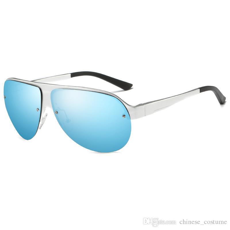 New Men's Big Frame Sunglasses Men's Brand Designer Large Frame Sunglasses Oculos de Sol vantage European and American Business Sunglasses