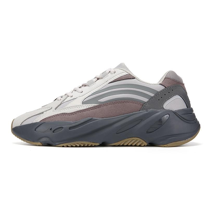 2020 Новый 700 V3 Kanye West Мужчины кроссовки 700V3 Azael Alvah Белый Скелет Черный Glow In The Dark Женщины Спорт кроссовки Us7-11 С # DSK650