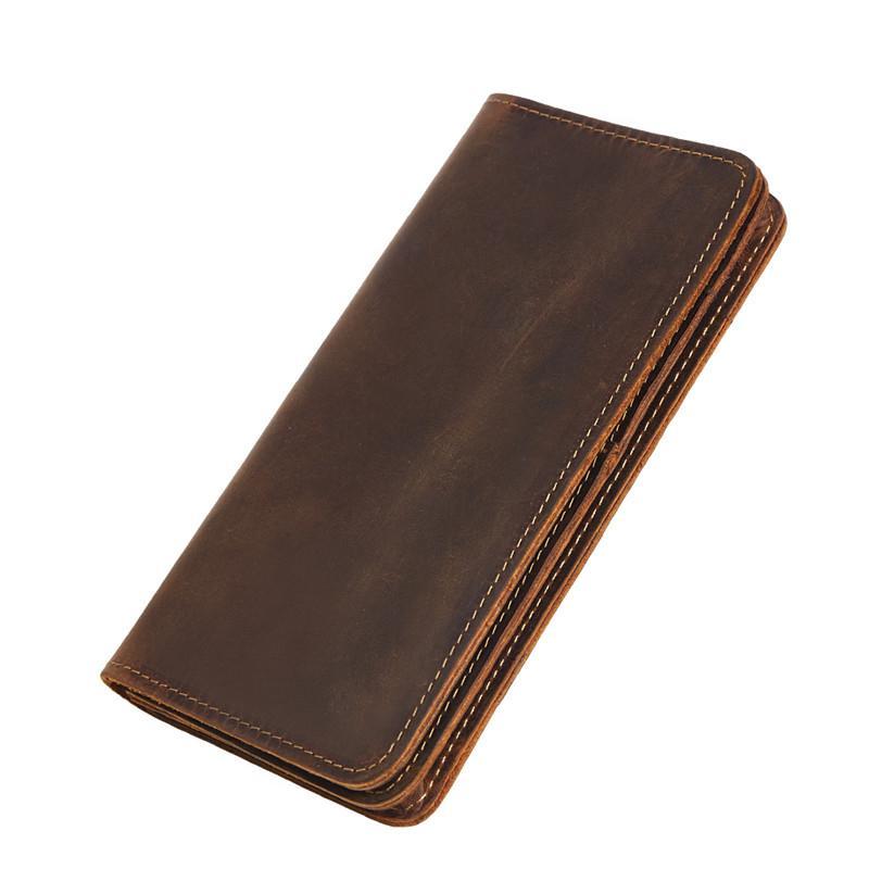 전화 가방 패션 남성 클러치 카드 홀더 Cuzdan Portmonee 남성 지갑 빈티지 남성 긴 지갑 100 % 암소 가죽 지갑