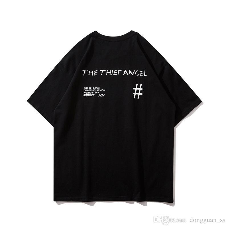 귀여운 아기 돈 두둑 인쇄 남성과 여성 여름 티셔츠 O 목 느슨한 캐주얼 새로운 패션 힙합 T 셔츠 반소매 탑 티셔츠