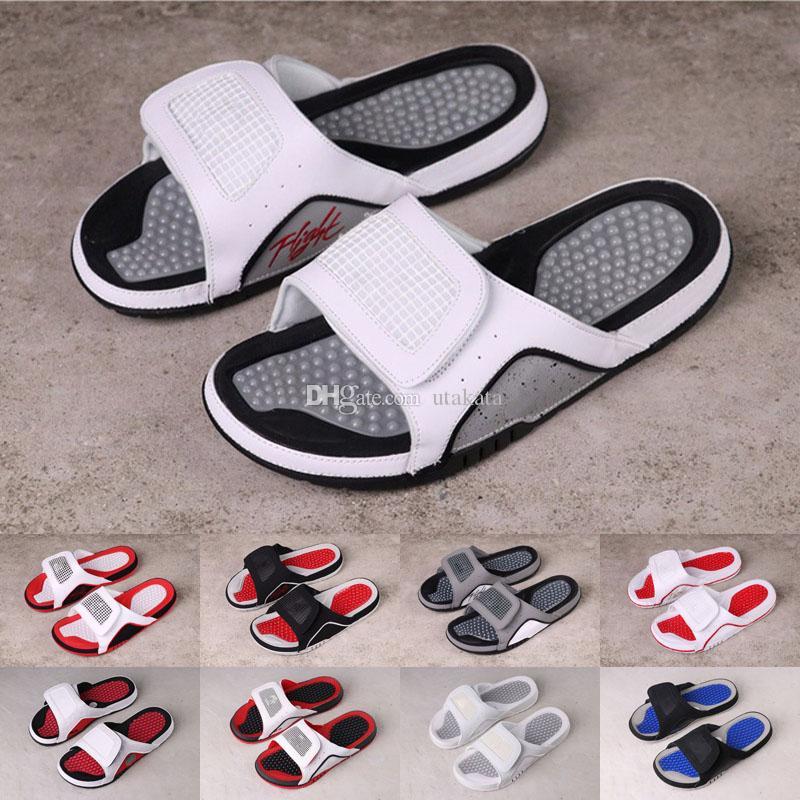 Jumpman 4 terlik sandalet Hidro IV 4 s slaytlar siyah ücretsiz kargo erkekler Plaj sandalet 11 Xİ 6 VI ayakkabı açık sneakers boyutu 36-46