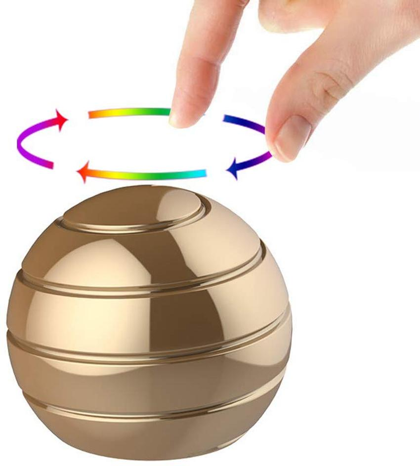 مكتب الحركي لعب كامل الجسم البصري الوهم الململة سبينر الكرة هدايا للنساء رجال أطفال