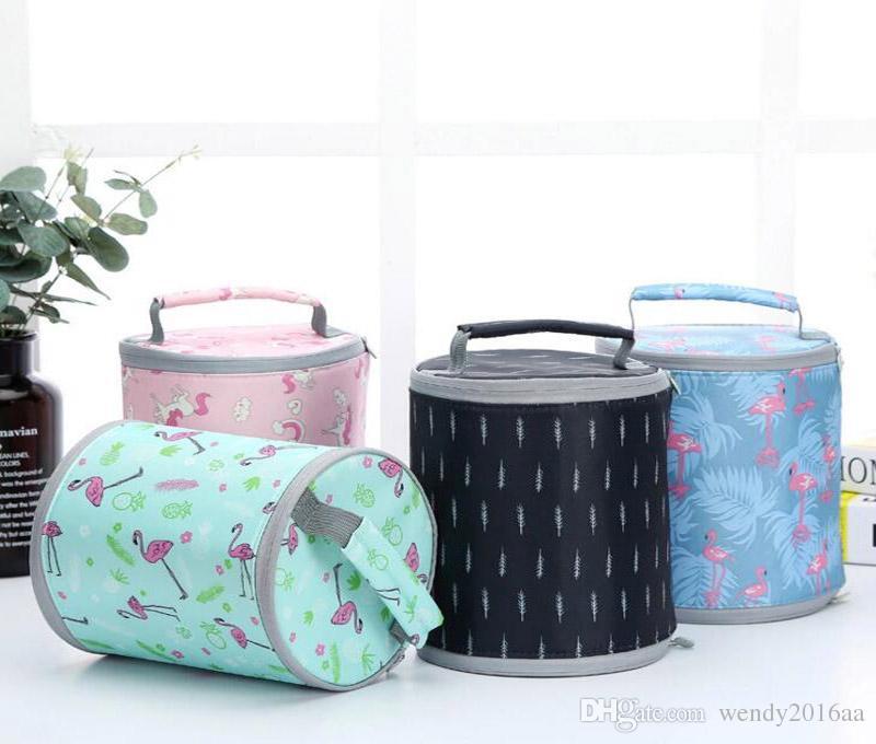 50pcs 17cmx20cm Barrel Insaluted Lunch Box Bags Dinner Plate Sets Handbags Travel Gadgets Closet Organizer Kitchen Accessories