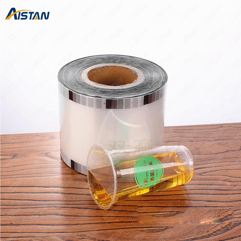 F9095 Copa de la taza de la película para la burbuja Boba Tea Tea Selling Machine Seller Borrar PP Tipo 3000 Tazas / Roll 90mm, 95mm