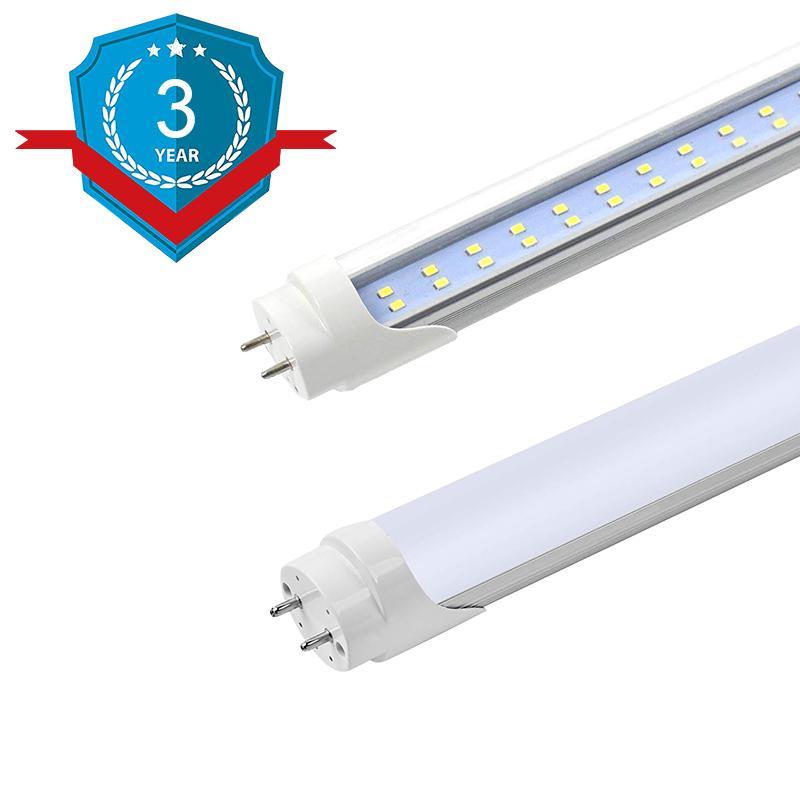 LED T8 Tube Light Bulb, T8 LED Tubes Light Fixture, Dual Row LED, Bi-Pin G13 Base, Dual-End Powered, Warehouse, Shop Light for Garage