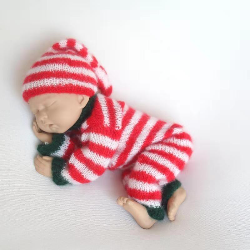 1pc Xmas Santa Boots Style Newborn Baby Photography Props with Knitted Hat Cute