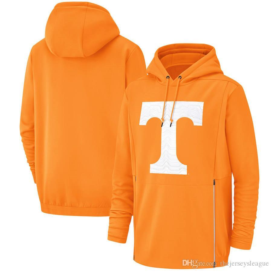 2019 New Men Теннесси Волонтеры Толстовка Салют для обслуживания Sideline Therma Performance NCAA Толстовка с капюшоном оранжевого цвета