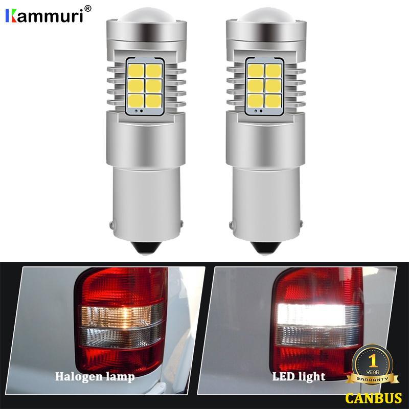 KAMMURI 6000K Белый Нет ошибки 1156 P21W светодиодные лампы для VW T4 T5 T6 T5.1 Transporter привело DRL резервного копирования Обратный свет лампы