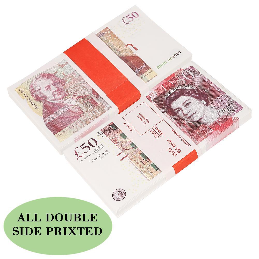 تجارة الجملة الدعامة نتظاهر UK السينما المال الجنيه شريط دعامة المال 100pcs التي / حزمة