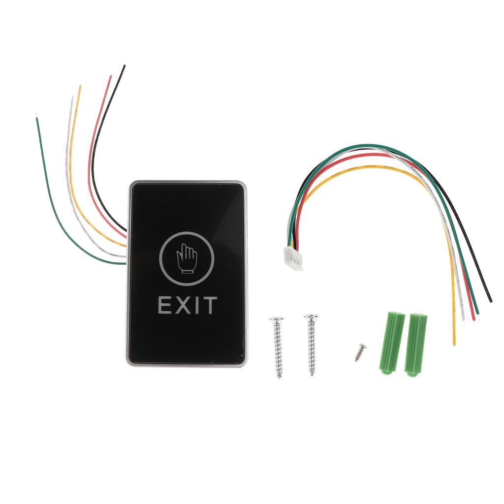 Touch Pad DCl2V-24V NC NO COM Door Exit Release Button Switch For Access Control With LED Light ( Rectangle Shape ) C1
