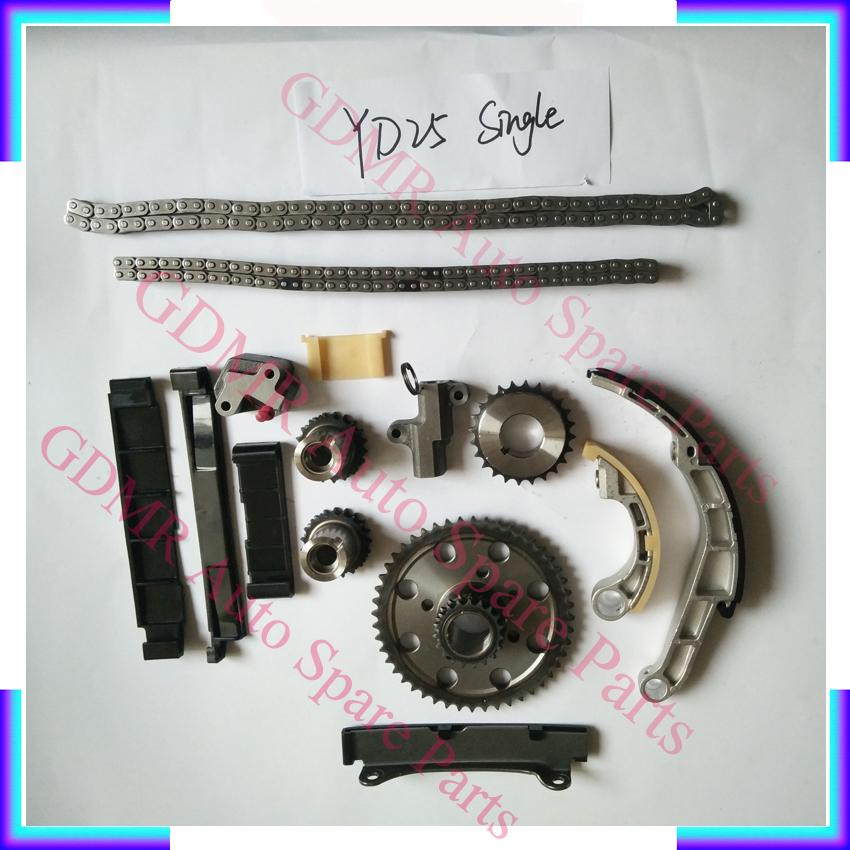Tek Sıralı Otomatik Motor Zamanlama Zincir Seti YD25 YD22 YD25DDDI YD22DDDI OEM 13028-EB70A Nissan Navara D22 D40 için