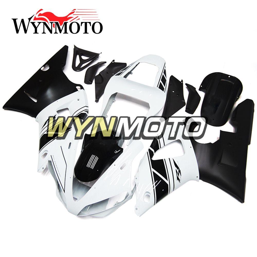 Белая Черный Sportbike корпус для Yamaha R1 YZF1000 2000 2001 01 02 полного велосипед тела Рамы R1 Aftermarket мотоциклов OEM Injection