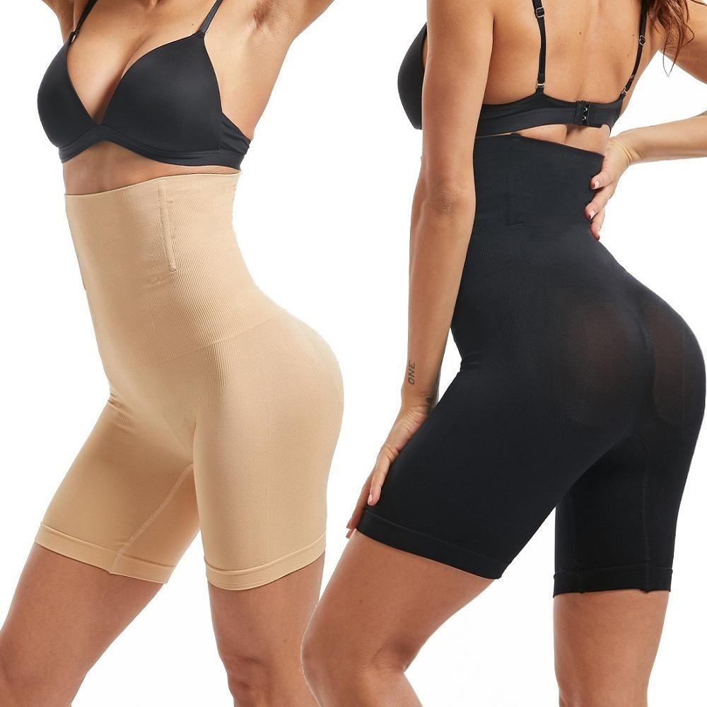 Taille Entraîneur Femmes amincissants Tummy Contrôle Panties Minceur Sous-vêtements Body Shaper Butt Lifter Modeling Sangle taille haute Ceinturon T200302