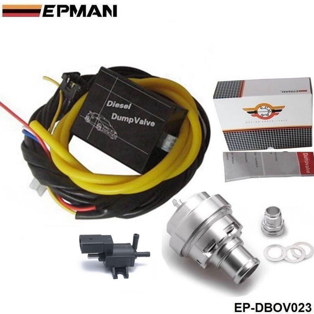 EPMAN - Electrical Diesel Black off-klep / diesel Dump Valve / Diesel BOV voor BMW voor Zitting enz. EP-DBOV023