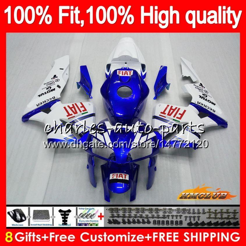 ホンダブルーホワイトCBR600RR CBR600 RR 2005 2006 80HC.31 CBR600F5 CBR 600F5 600RR 05 06 CBR 600 RR F5 05 06フェアリングOEM