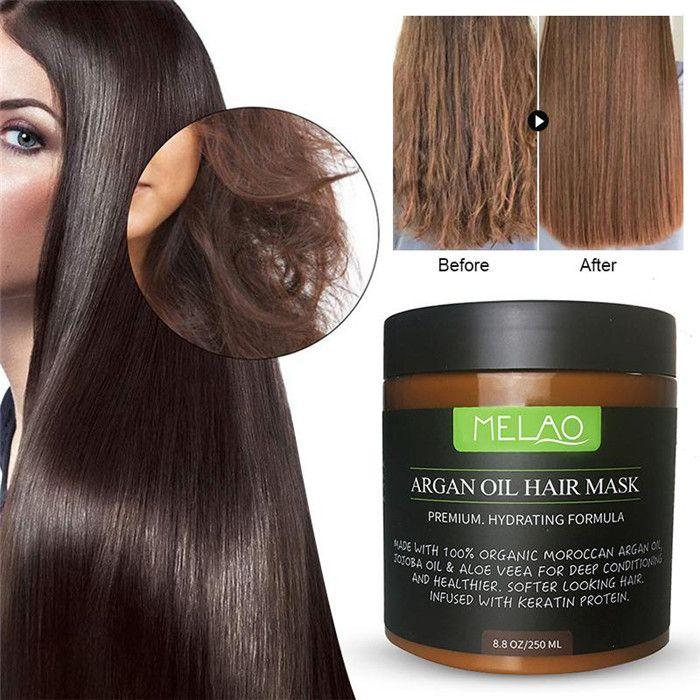 MELAO ARGAN Масляные маски для волос Премиум Увлажняющие Формула Увлажняющие Усилитель Усилитель Усилитель Питает Ремонт Ремонт Маска для волос Уход за волосами 6 шт.