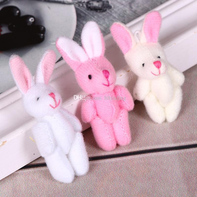 Osterhase Plüschtiere cartoon 4-6 cm Kaninchen Plüsch Spielzeug Niedlich für baby Kinder festival geschenk C6024