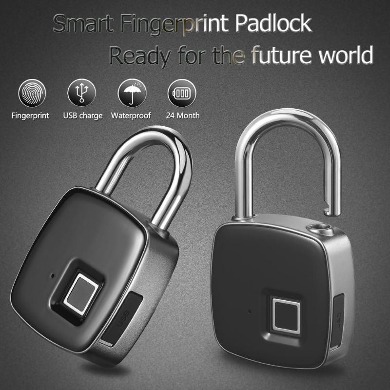 Controlador de lector de control de acceso Anytek P3 independiente biométrico de huellas dactilares de bloqueo a prueba de agua sin llave del candado antirrobo bloqueo de la puerta