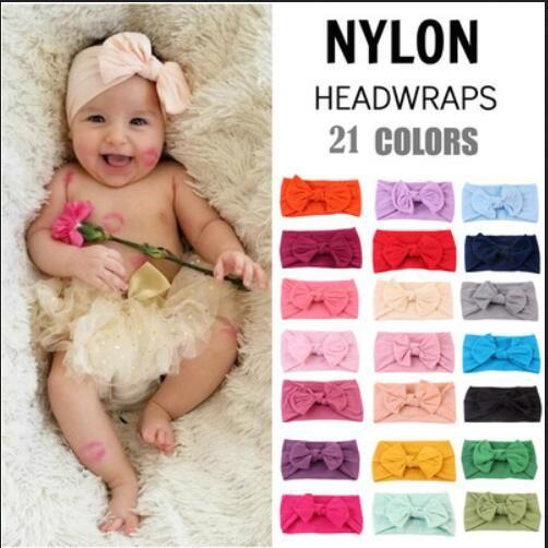 Fasce larghe dell'arco delle neonate Fasce molli elastiche di Bowknot dei bambini Accessori per capelli dei capretti Fascia per capelli Principessa Copricapo