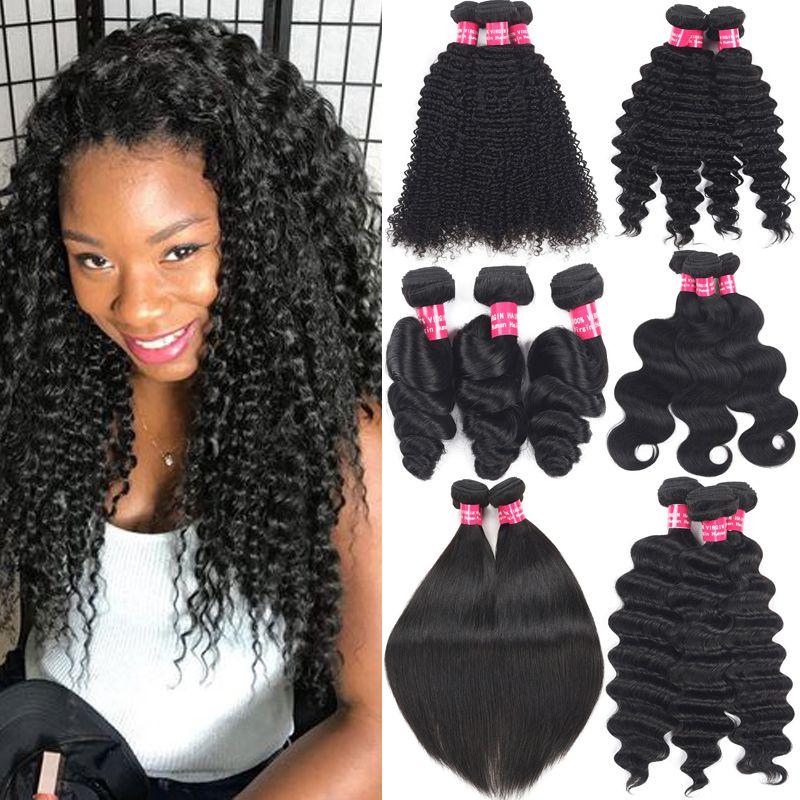 Human Hair Weaves Kinky Curly Brazilian Virgin Hair Bundles Weft Unprocessed Cheap Brazilian Remy Kinky Curly Hair Extensions 8-30 Inch