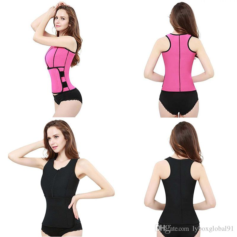 Body Shaper Slimming Vest Neoprene Sauna Vest Women Corset Tops Waist Trainer Summer Workout Shapewear Adjustable Belt For Womens Wholesale