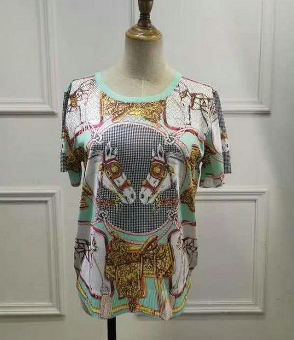 tür A05 Kadınların Moda yaz sonbahar rahat kumaş kısa kollu tişört örme üst Kadınlar tişört Triko ceket Resimleri