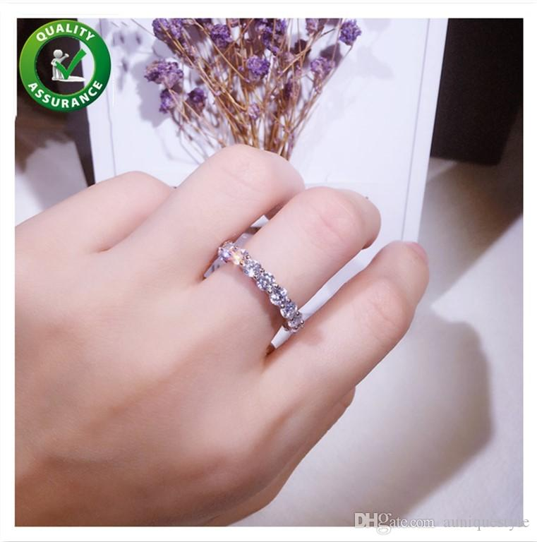 Anelli in argento sterling 925 Anelli di fidanzamento con diamanti per donne S925 Designer di gioielli di lusso per accessori moda donna ragazza