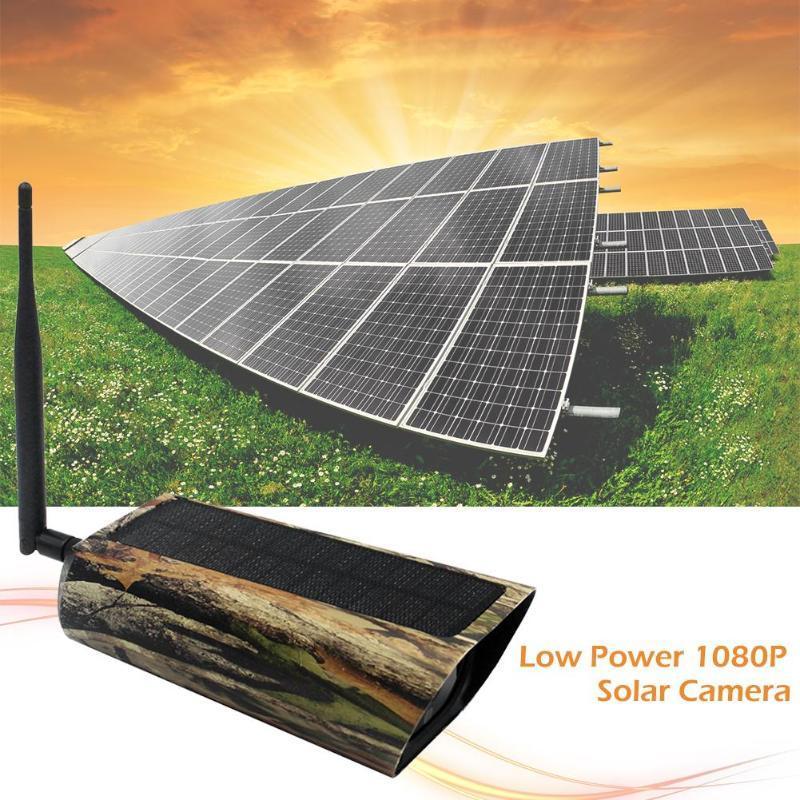 Painel Solar 2MP 1080P animal da foto Traps Trail Caça câmera IP65 Waterproof Infrared Night Vision Vídeo DV Cam para Wildlife