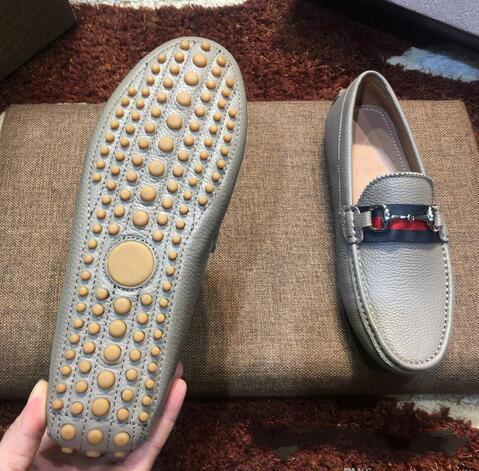 [Orijinal Kutusu] Lüks Moda Erkek Gommino Elbise Casual Parti loafer'lar Ayakkabı Cowskin Tek Wedding On Ayakkabı Kayma Siyah Size38-46 Z04 pompaları