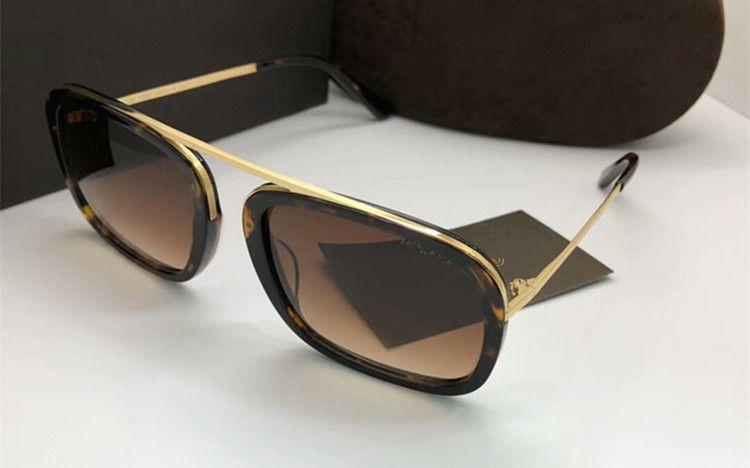 2020 جديد تصميم الأزياء TF0453 UV400 نظارات شمسية واقية neutery الفاخرة الإيطالي لوحة + معدن الموضة مجموعة كاملة من القضية، وعلبة