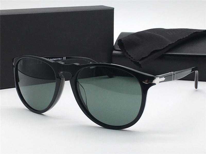 Fashion designer sunglasses 9649 classic retro aviator frame glass lens UV400 protective glasses with leather case vintage retro style