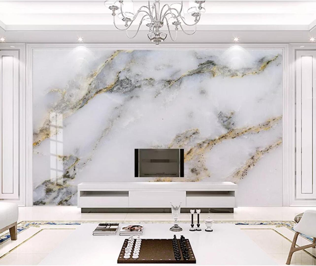 Modern White Marble Wallpaper 3d Wall Mural For Tv Background Wall Decor Gold Luxury Murals Photo Printed Paper For Bedroom Hd Hd Wallpapers Hd High Quality Wallpapers From Nice 03 39 37 Dhgate Com