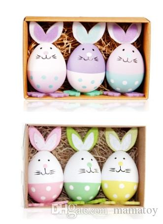 2020 Plastic Easter Egg Bunny Colorful Toys For Easter Day Gifts