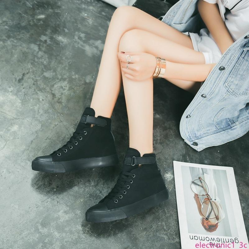 cadere nuove scarpe di tela magica versione femminile coreana del classico cento a fondo piatto gli studenti con i tacchi alti