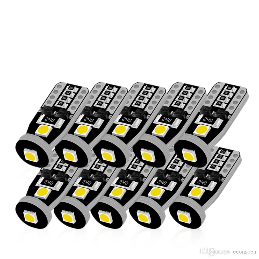 T10 LED Beyaz 3SMD 3030 Led Araba Işık W5W 194 168 CANBUS Hata Canceller Ampüller 12V Kama Lamba Sinyal Işık Bandı Decoder çevirin