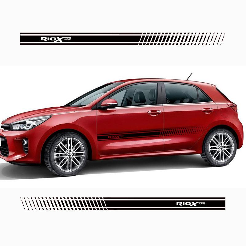 Stylish car body sticker vinyl body decal racing stripe sticker for Kia Rio x line Car accessories